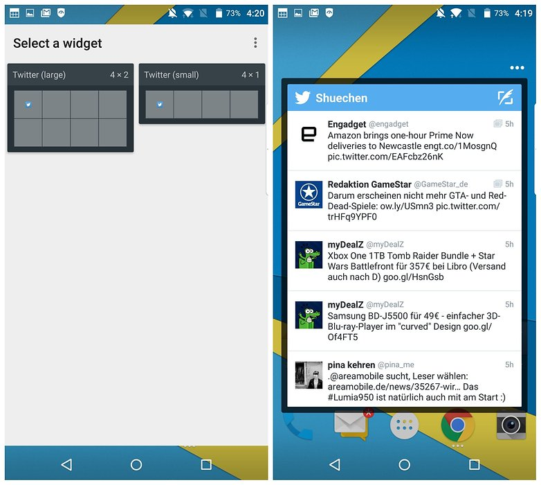 AndroidPIT BlackBerry Priv lock widgets