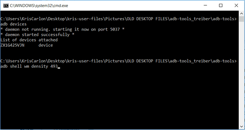 AndroidPIT Command Prompt Window Shamu