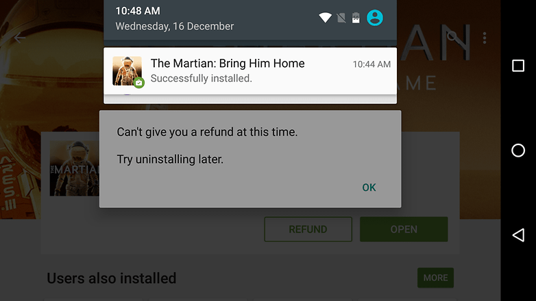 Androidpit google play app refund cant refund at this time
