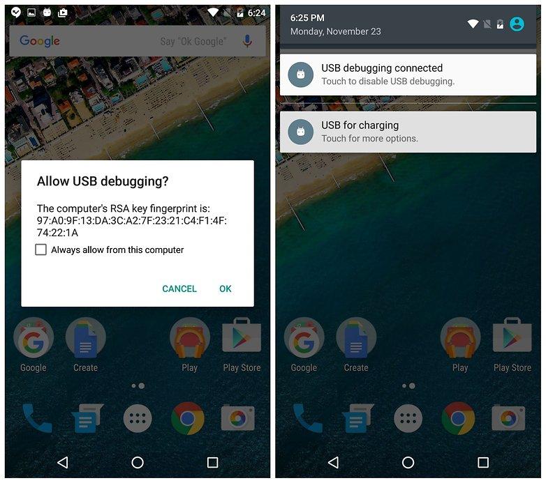 AndroidPIT Nexus 5x usb debugging rsa key