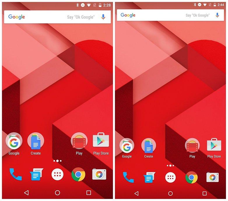 AndroidPIT Nexus 6 DPI change home screen