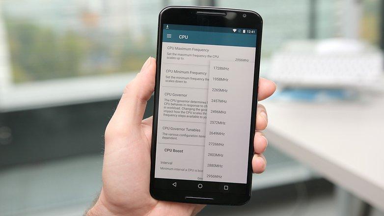 AndroidPIT Nexus 6 kernel adiutor set CPU clock speed