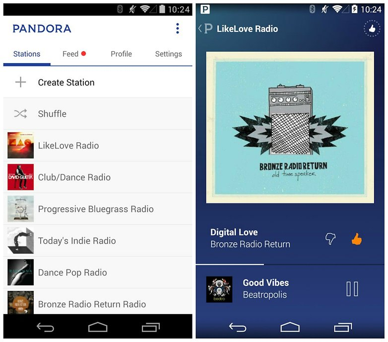 AndroidPIT Pandora radio app