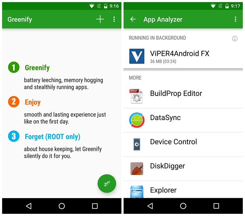 AndroidPIT root apps Greenify