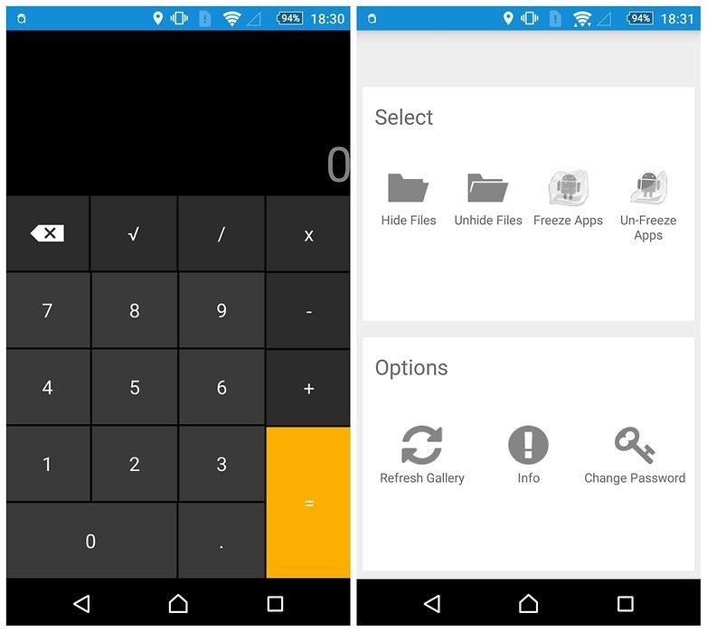 AndroidPIT vault apps smart hide calculator