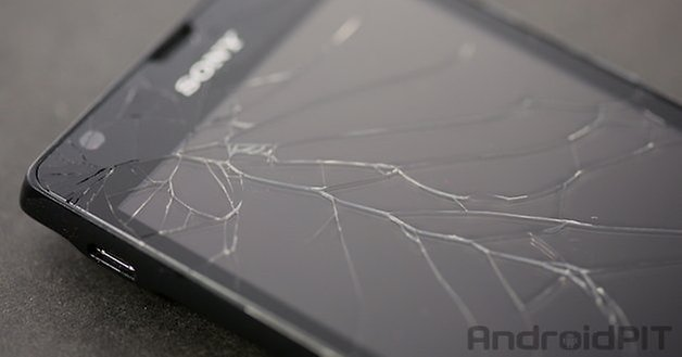 xperia broken screen