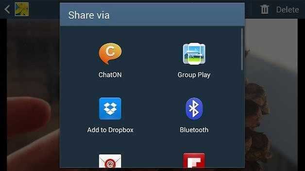 TouchWiz Gallery Share
