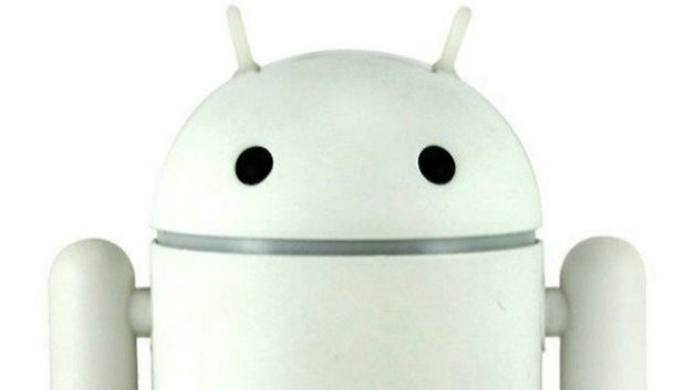 White Android Head