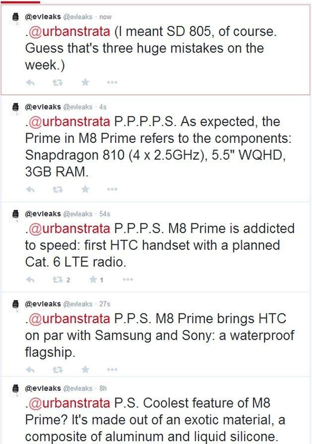 evleaks M8 Prime Leaks