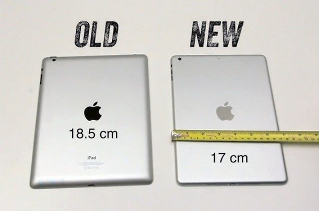 iPad5LeakChassisWidth