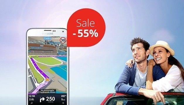 Sygic navigation celebrating 55 million users with 55% sale