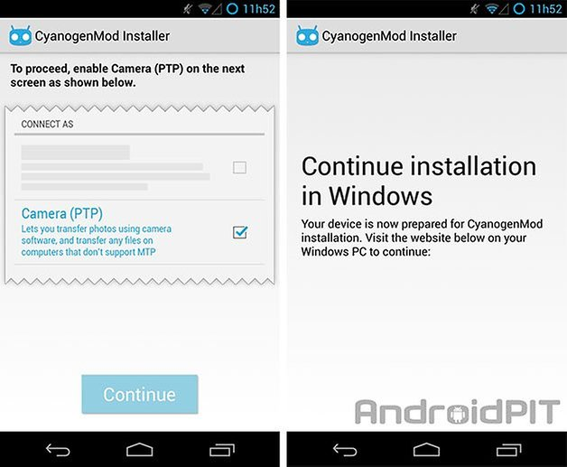 cm installer app ptp windows