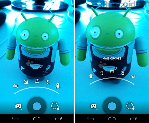 Camera stock Android Nexus 2 menu