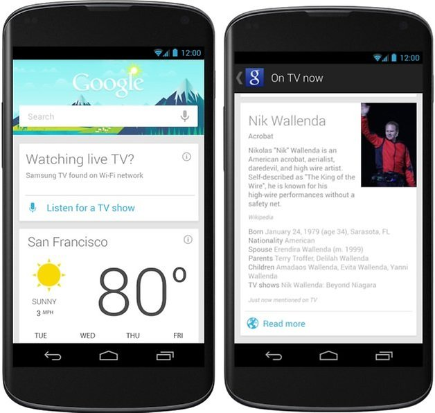 Google Now TV Cards