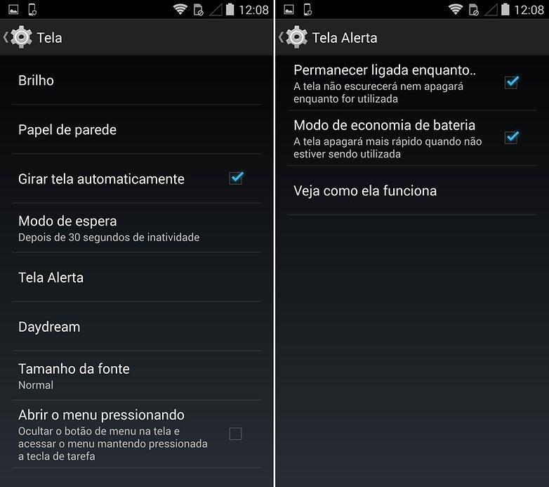 Moto Maxx tela alerta