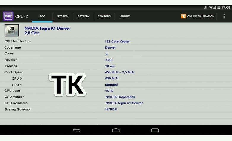 Nexus 8 Tegra K1