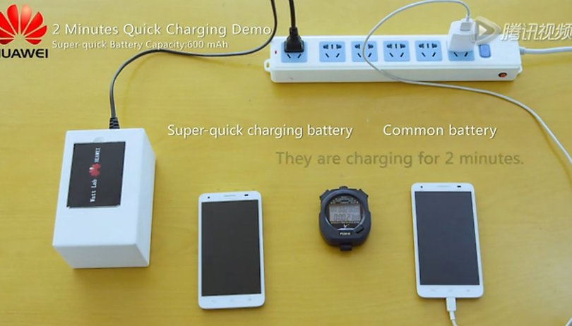 Watch this Huawei phone battery charge in just two minutes
