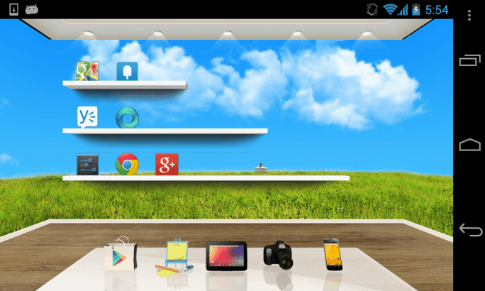 The 360 degree circle wallpaper on 3D Home   AndroidPIT Forum