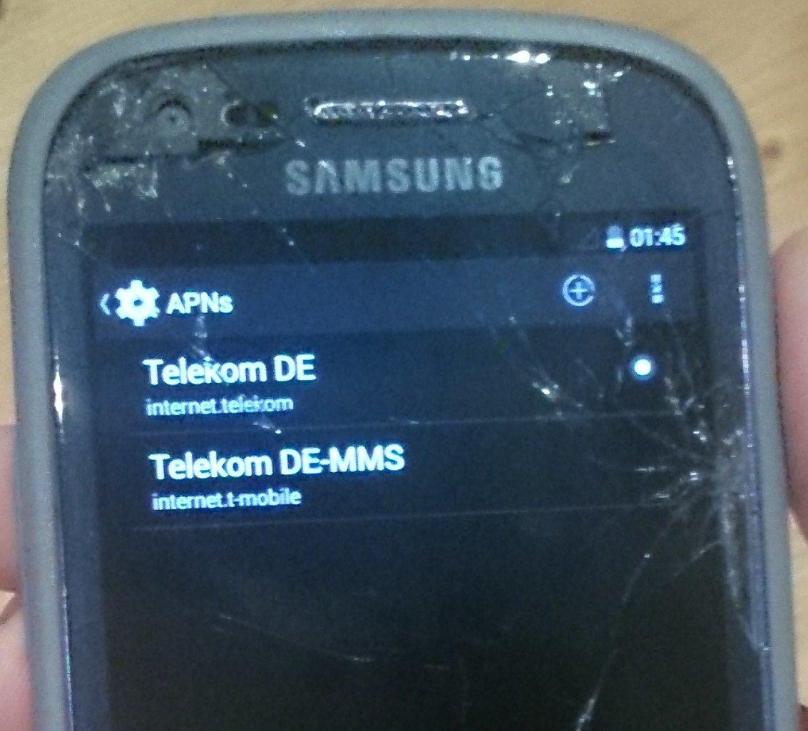 Samsung Galaxy S3 mini — kein Empfang mehr, WLAN