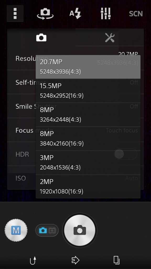 15 5MP Manual Mode camera settings in Sony D6503 576x1024