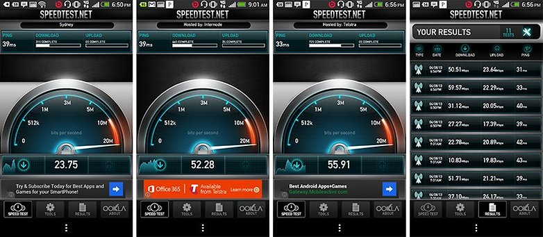 4g Speedtest Android HTC One