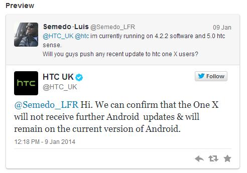 HTC UK One X