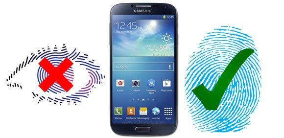 galaxy s5 no iris yes finger