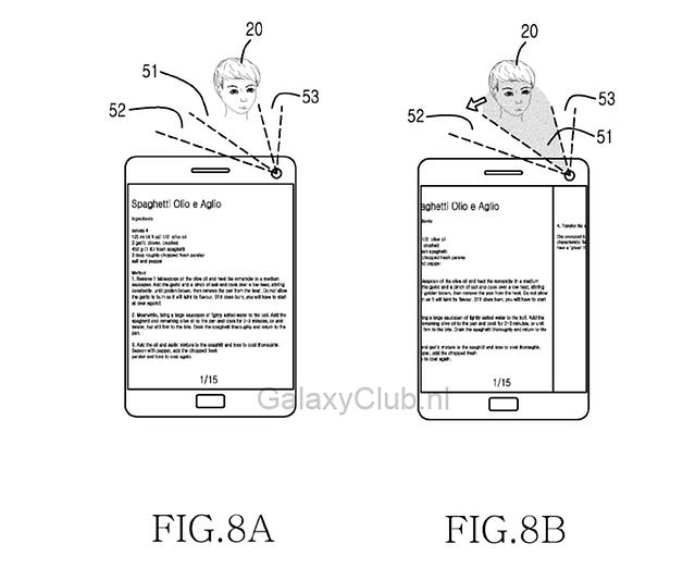 samsung galaxy s5 eye head tracking patent 1