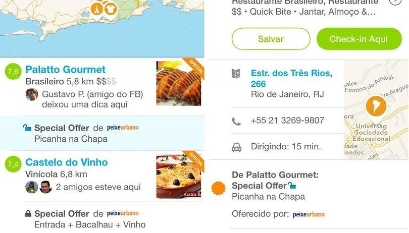 Peixe Urbano e Foursquare fecham parceria para vender pelo app