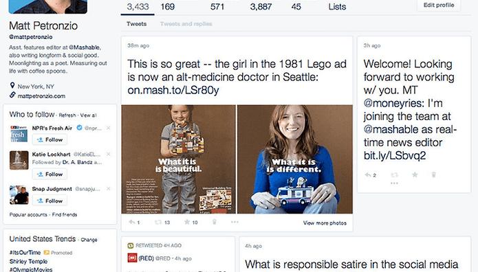 Twitter testa novo visual e desagrada usuários