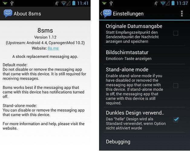 8sms app screenshot hell dunkel 03