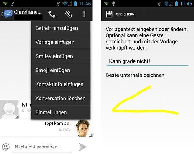 8sms app screenshot vorlagen 01