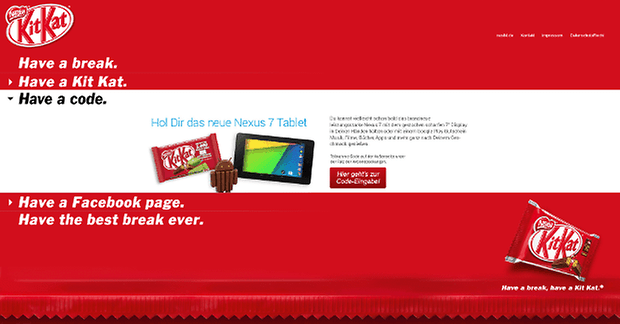 Android 4 4 KitKat Gutscheincodes screenshot