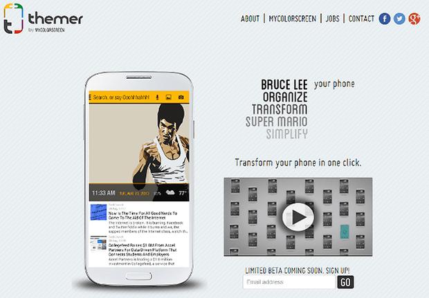 Themer App Screenshot website