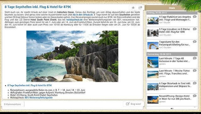 Urlaubsguru Reise Schnäppchen: Schnäppchenjäger-App im Test