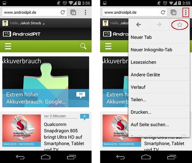 android anleitung lesezeichen homescreen screenshot 01