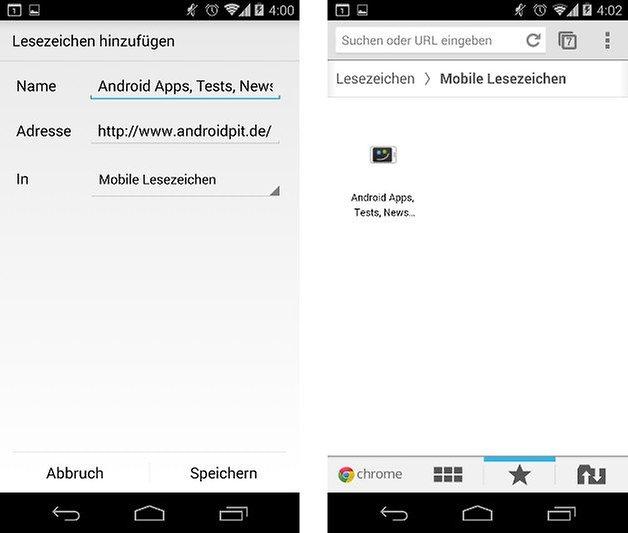 android anleitung lesezeichen homescreen screenshot 02