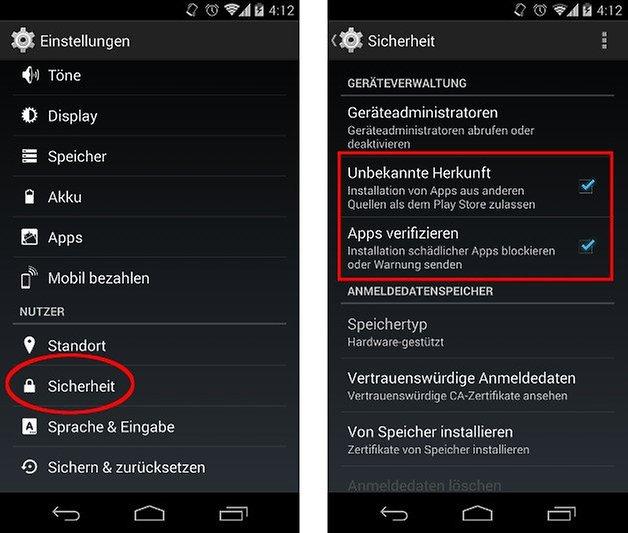 anleitung apk installieren sicherheit screenshot