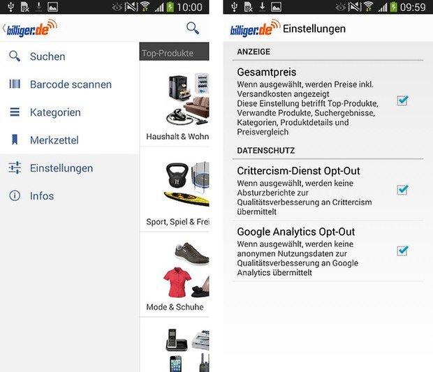 app billiger de screenshot 01