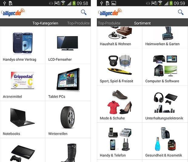 app billiger de screenshot 03