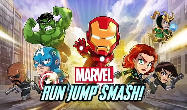 app marvel jump run smash