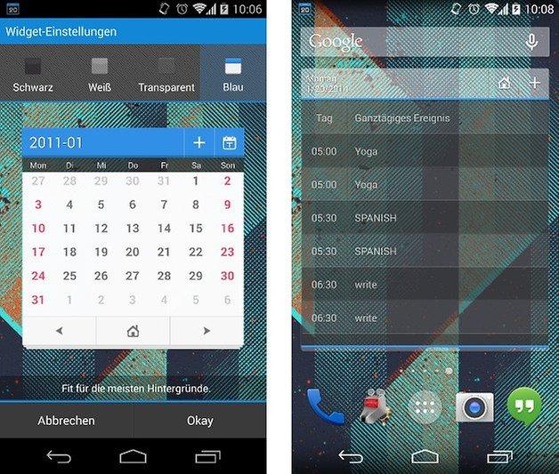 zdcal kostenlose kalender app mit thematischer gruppierung androidpit. Black Bedroom Furniture Sets. Home Design Ideas
