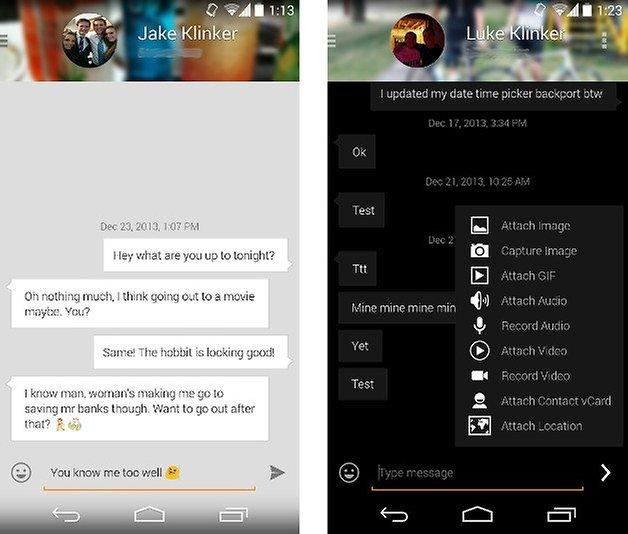 apps design evolve sms screenshot