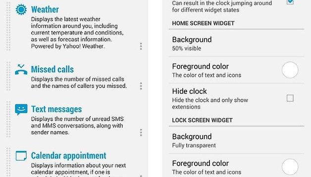 DashClock Widget Update: Improved design and customization