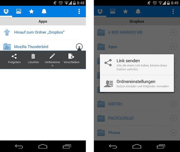 dropbox app update freigeben screenshot 01