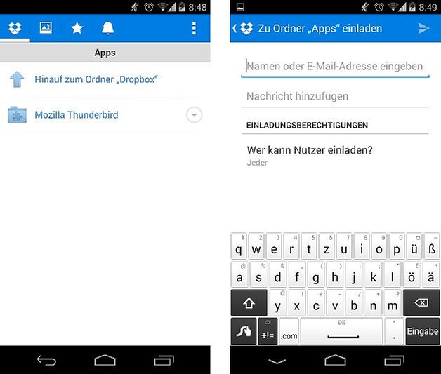 dropbox app update freigeben screenshot 03
