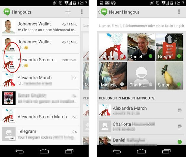 google hangouts screenshot screens 06