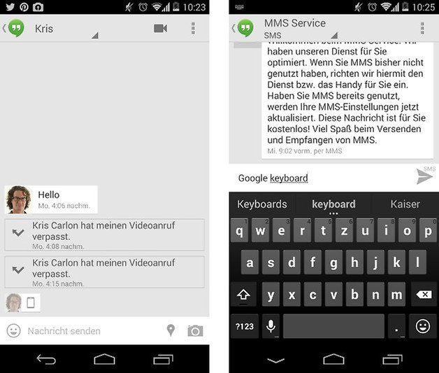 google keyboard hangouts screenshot