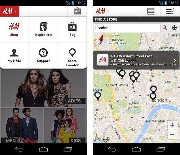 hm shopping app screenshot