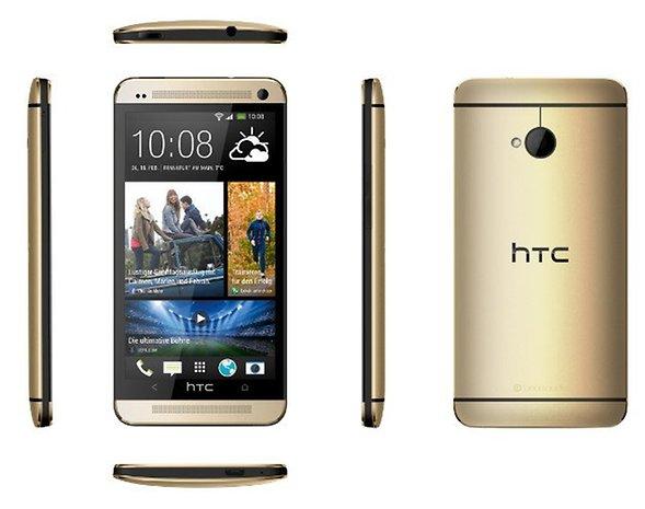 HTC One Gold 6-Seiten-Ansicht